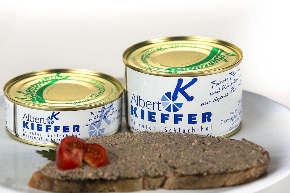 Pfälzer Leberwurst in der 200g Dose. (linke Dose)
